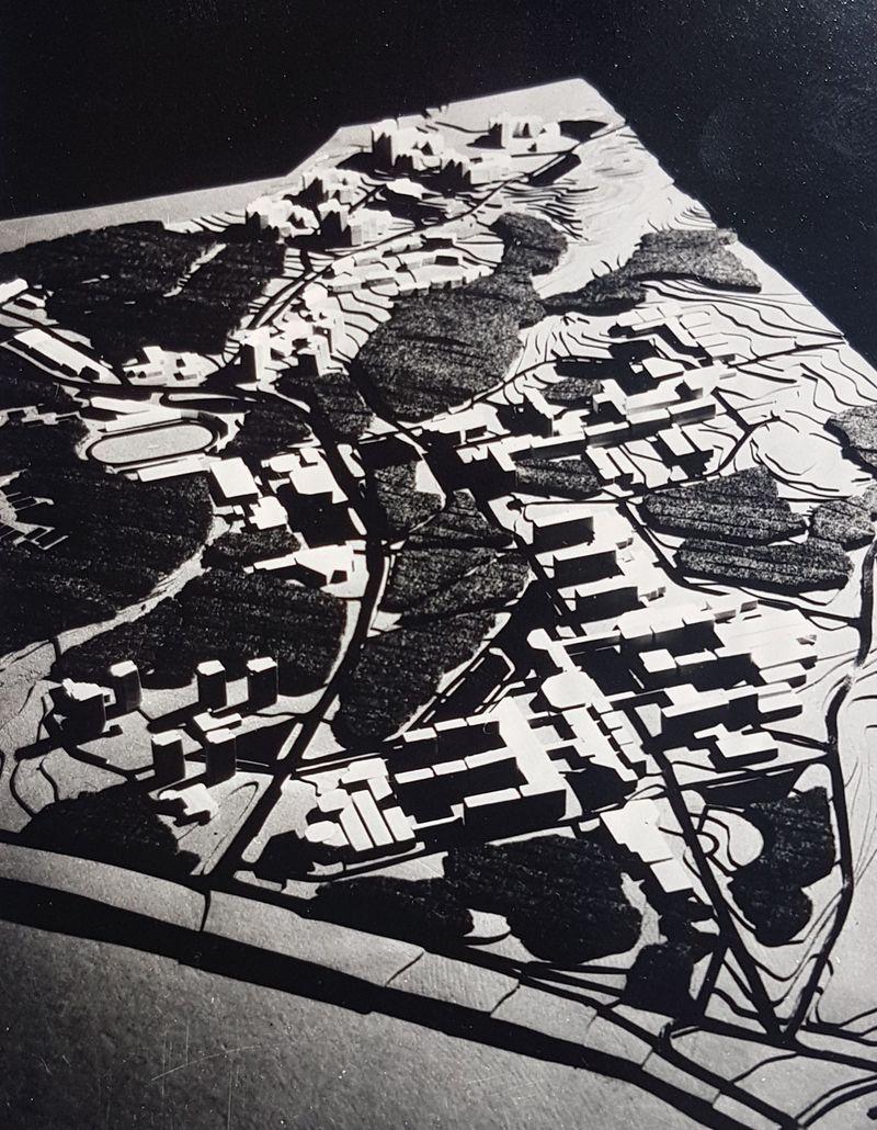 Vilniaus studentų miestelio Saulėtekio al. detalus suplanavimas (1965): architektai Z.J.Daunora (vadovas), R.Dičius, J.Jurgelionis. Foto: Pilotas.LT archyvas.