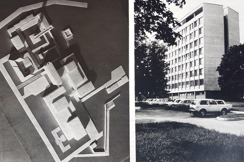 Vilniaus Telecentro S.Konarskio g. išplėtimo projektas ir realizacija (1964-1969): architektai Z.J.Daunora, R.Dičius ir L.Majerienė. Foto: Pilotas.LT archyvas.
