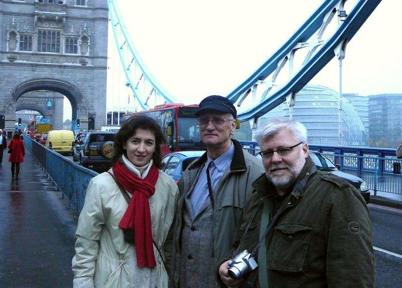 Z.J.Daunora su kolegomis analizuoja Londono urbanistiką. Foto: A.Vyšniūno archyvas.