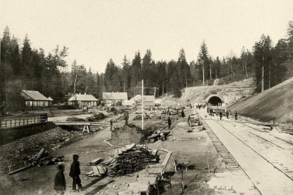 Kauno geležinkelio tunelio statyba, 1861 m. PILOTAS.LT archyvas.