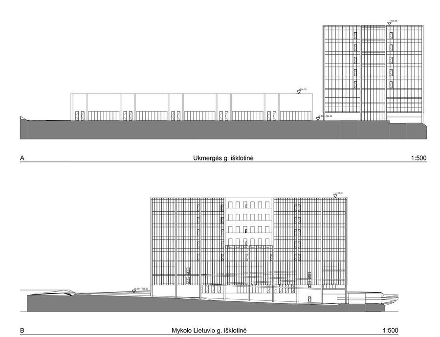 Prekybos ir administracinės paskirties pastatai Mykolo Lietuvio g. 6, Vilniuje (autoriai G.T.Gylytė, A.Neniškis, J. Jauniškytė ir K.Grigaitis)