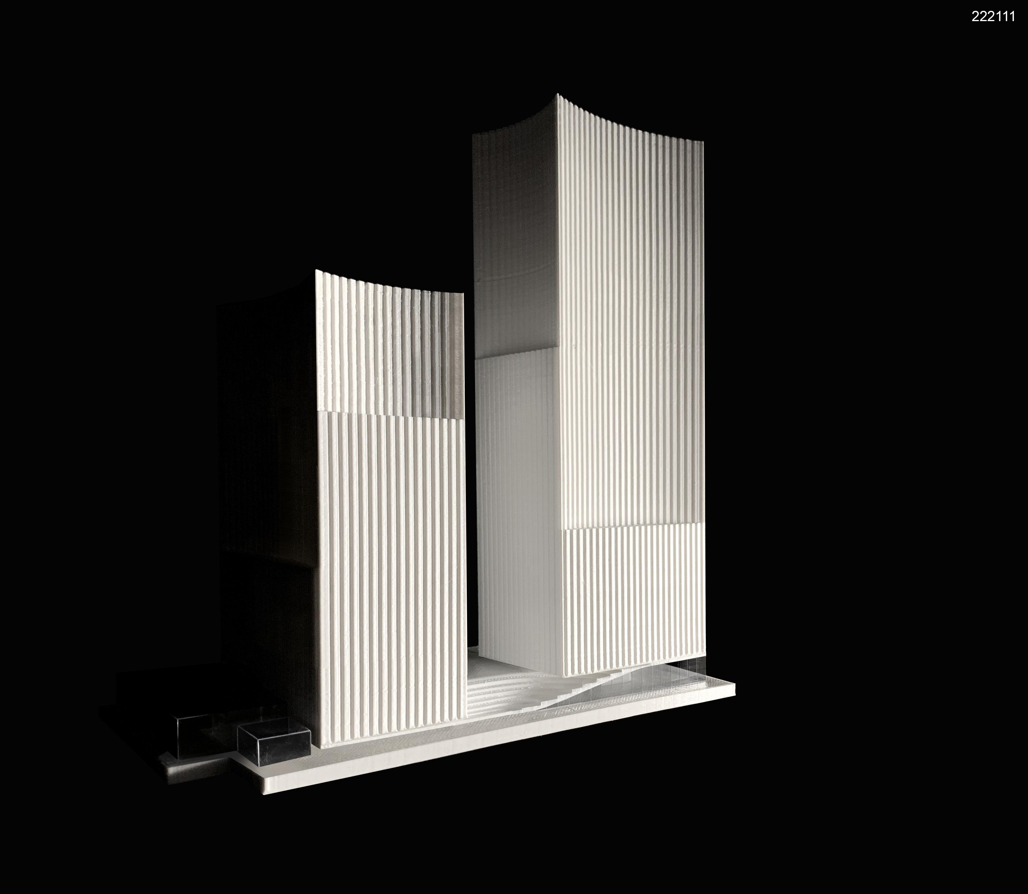 "Projektas devizu ""222111"" (arch. J.Porvaneckaitė, A.Dagelis, S.Čalnaras, A.Zenkevičiūtė), 2-oji vieta, 8.000 Eur. premija"