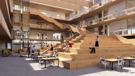 """1.000 vietų Pilaitės mokykla ( arch.""""DO Architects""""), konkurso 1-oji vieta"""