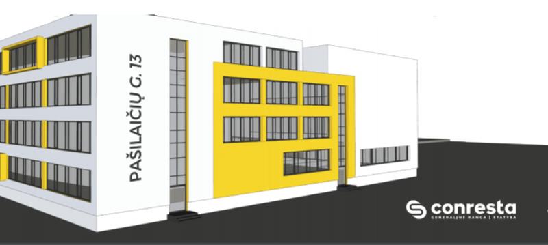 """Gabijos gimnazijos priestato kontūrai (arch. """"Projektai ir Co"""")"""
