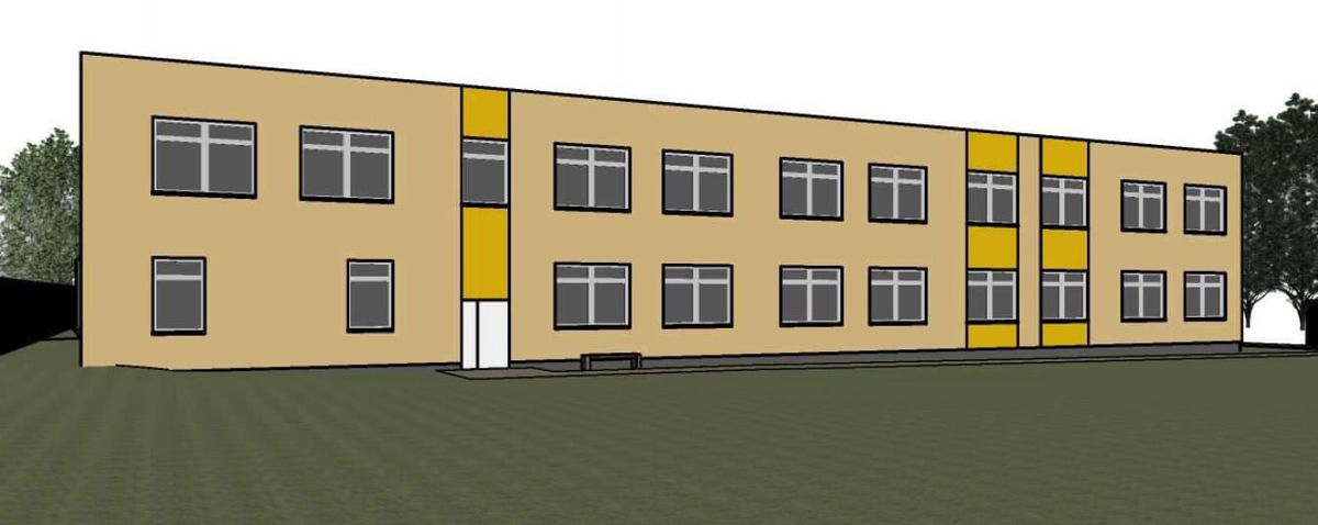 """Vilnies"""" mokyklos (Švarioji g. 33) jau kyla naujas 2 aukštų daugiau kaip 1.600 m² ploto priestatas (projektuotojas UAB """"Inovatyvi inžinerija"""", PV. A.Miniotaitė, arch. Š.Barkauskaitė ir V.Germanavičiūtė)"""