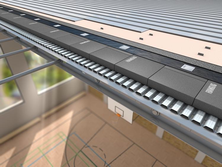 Foamglas sporto salės stogo konstrukcijoje