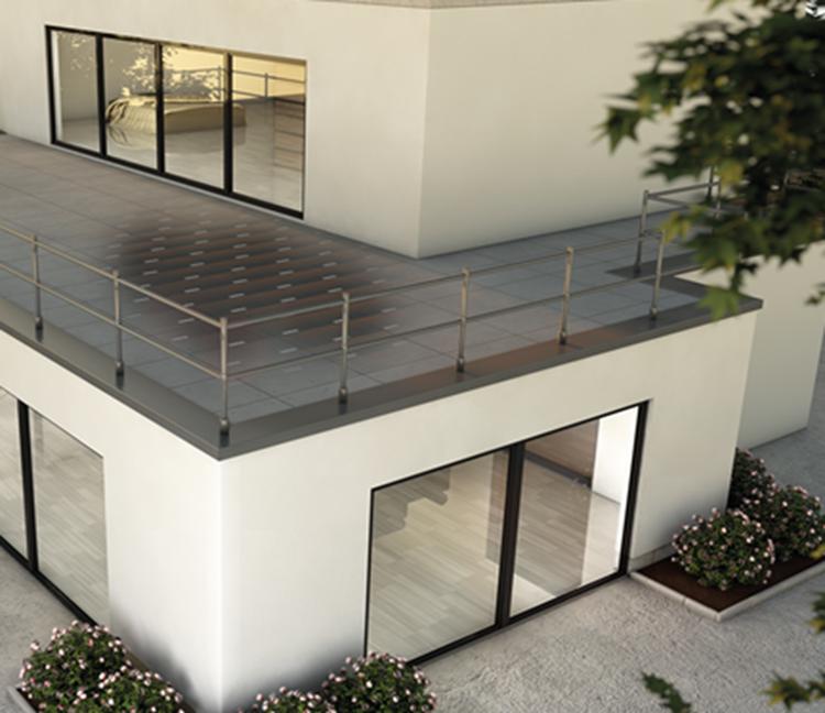 Buitinės terasos sprendimas virš šiltų patalpų