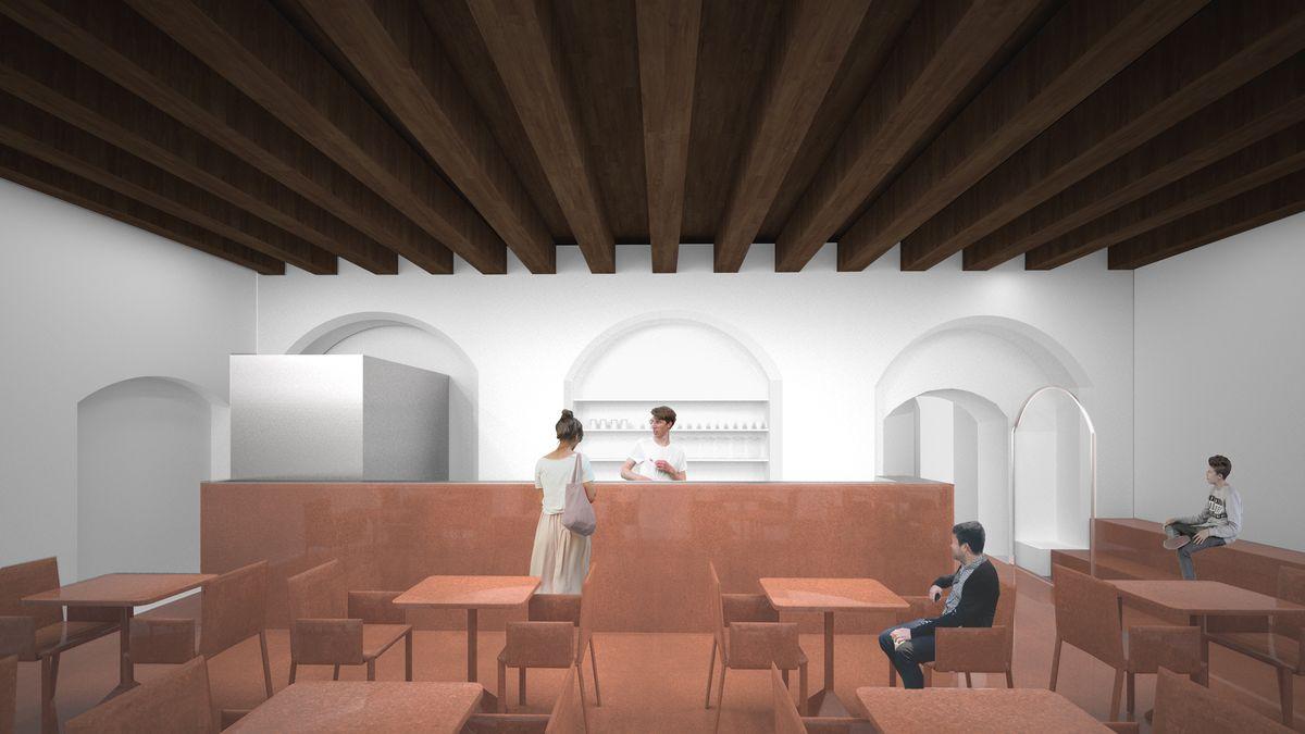 Pirmas aukštas, kavinė (vizualizacija)