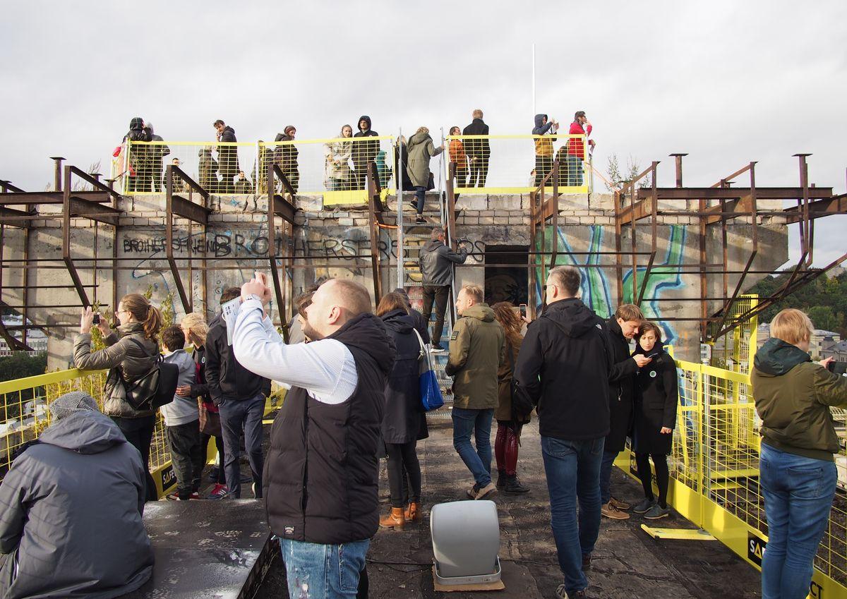 Pasigrožėti besikeičiančio Kauno centro panoramomis legaliai buvo galima pirmą kartą per 30 metų. Foto: ©PILOTAS.LT