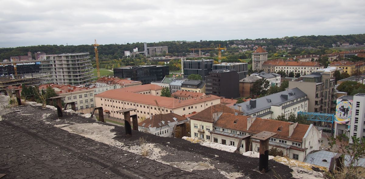 Buvo galima iš arti pamatyti ir naujausias miesto centro statybas. Foto: ©PILOTAS.LT