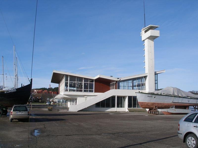 Prieplaukos pastatas Nidoje (arch. A.Paulauskas, 1964 m.)