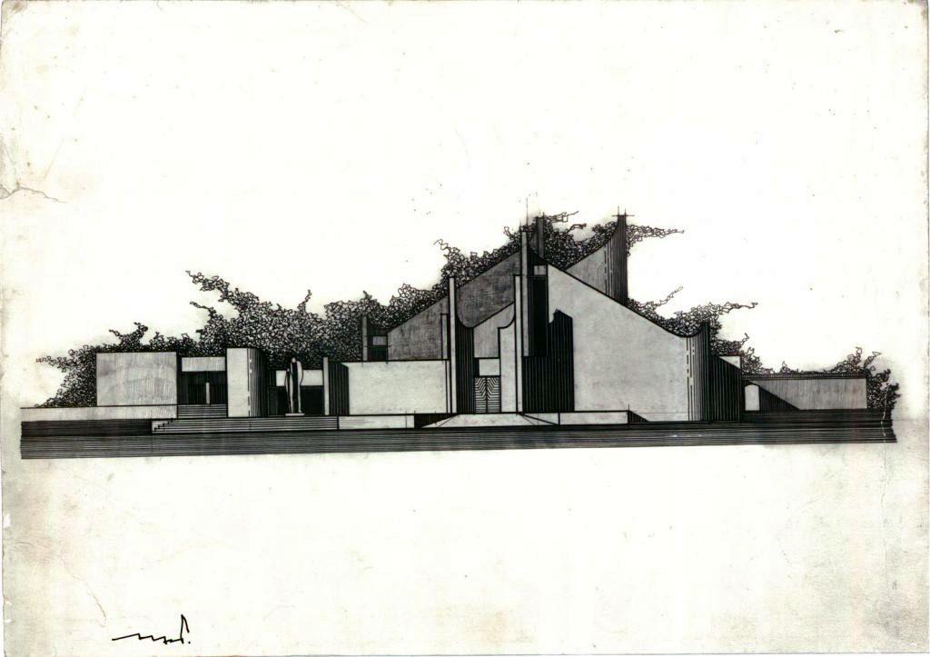 Laidojimo namų kompleksas Kaune (arch. A.Paulauskas, 1978 m.)