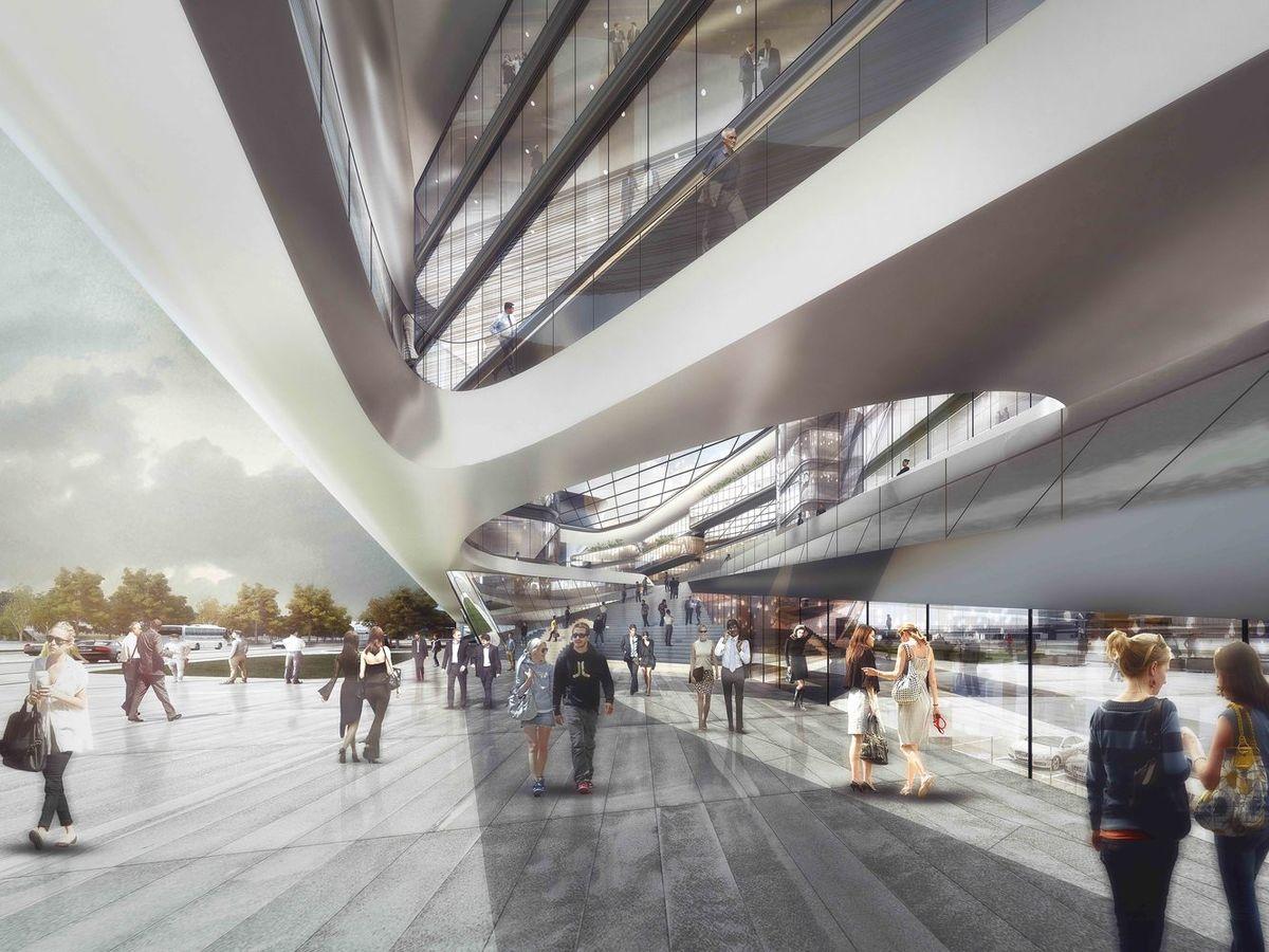 "verslo centras Liuksemburgo oro uoste (arch. ""Aravia Design & +FUN"")"