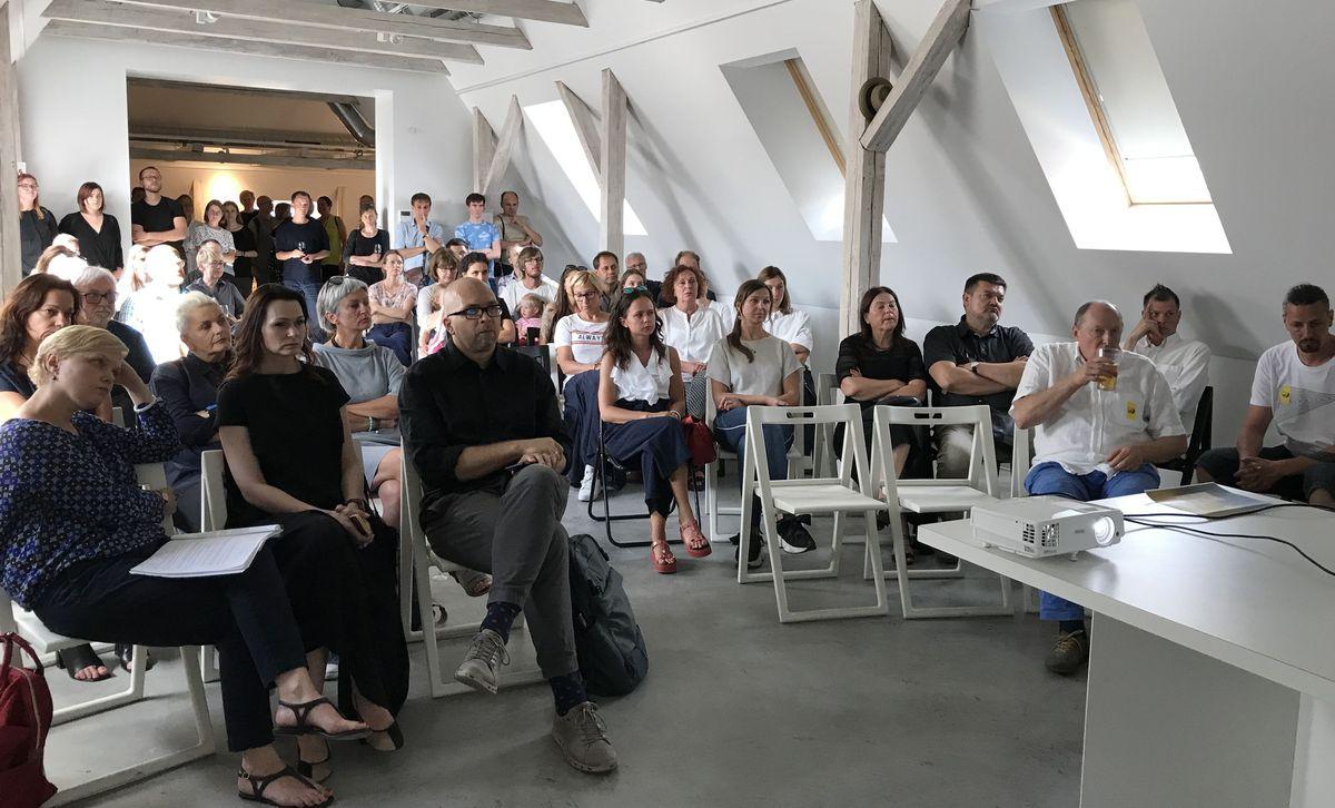 Trys pašto rūmų įveiklinimo scenarijai buvo pristatyti architektų bendruomenei ir sulaukė didžiulio dėmesio. Foto: ©pilotas.LT