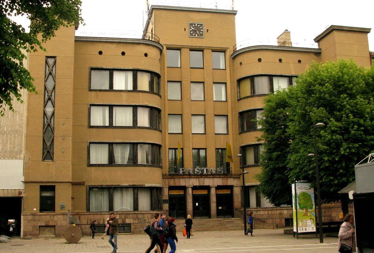 Kauno pašto rūmai (arch. F.Vizbaras, 1930) – UNESCO prabos architektūrinis grynuolis