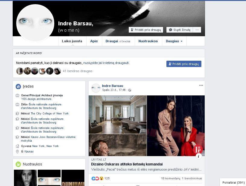 """Interjero bendraautorė Indrė Baršauskaitė švenčia su feisbukuomene tarptautinį """"dizaino Oskarą""""..."""