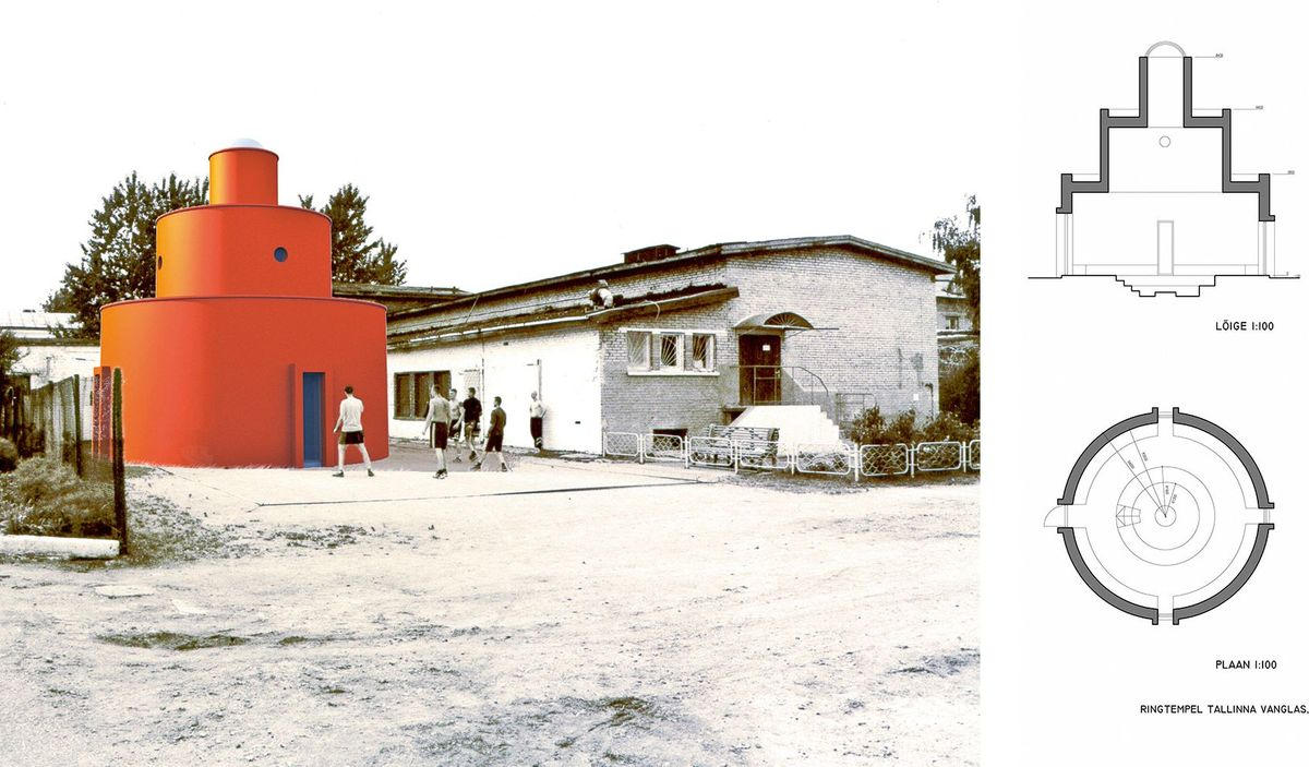 Apvali koplyčia Talino kalėjime, Estija. Vilen Kunnapu, 2004