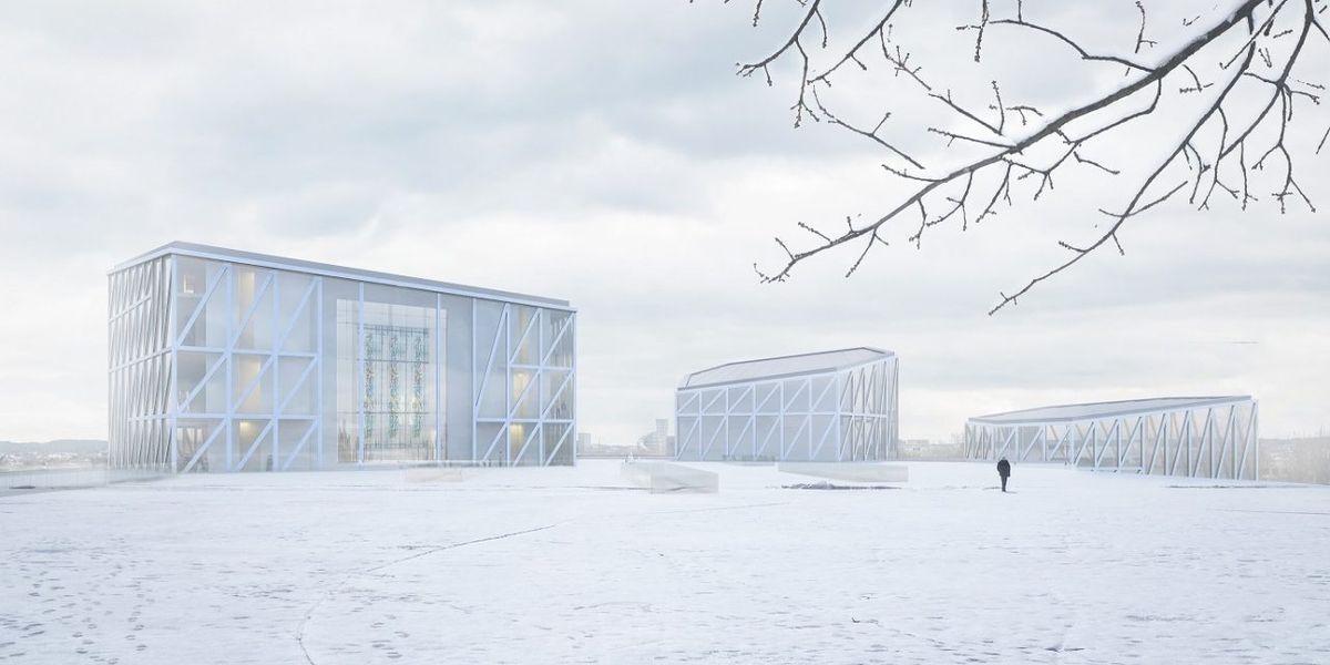 """Nacionalinė koncertų salė """"Tautos namai"""", arch. """"Arquivio architects"""", 1-oji vieta"""