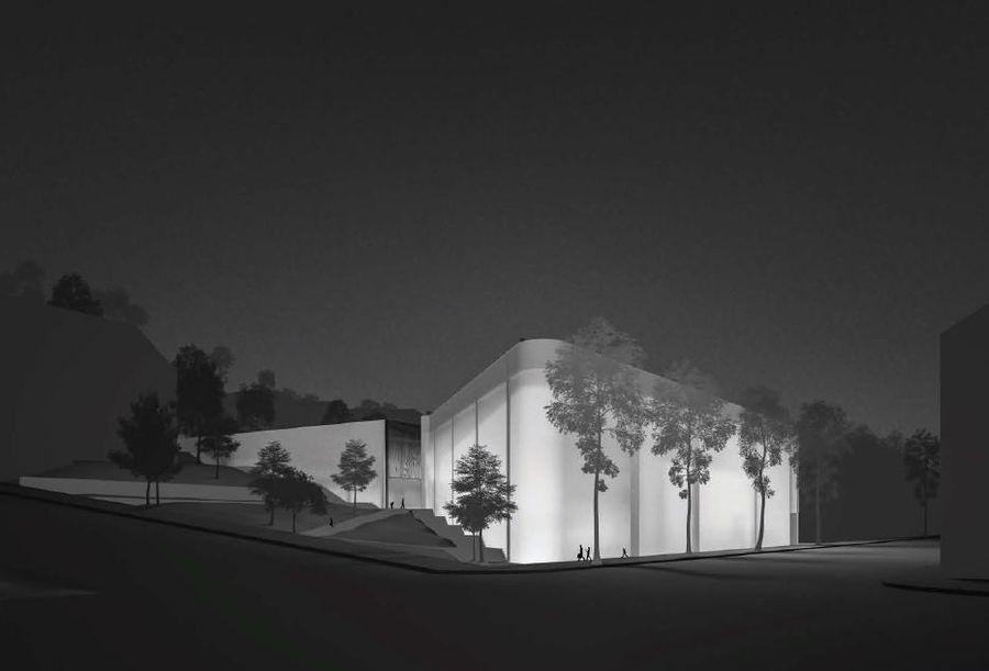 Pasaulio tautų teisuolių centras ir Memorialas Šv. Gertrūdos g., Kaune (autorius M.Kilius), 2-oji vieta, 500 Eur.