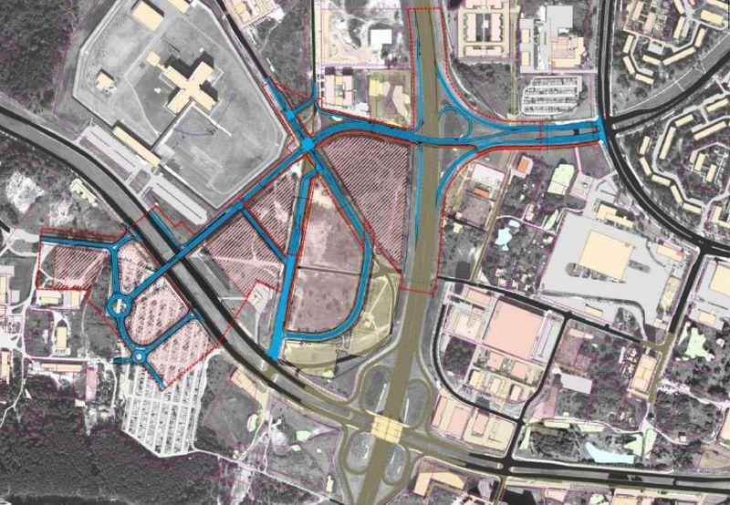 Teritorijos prie Šešuolių, Sidaronių, Mozūriškių gatvių detaliojo plano koncepcija (arch. L.Sinkevičius ir N.Siciūnas, inžinierius V.Valeika)