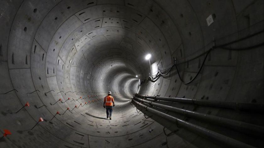 """Los Andželo regioninio tranzito tunelis (inž. WSP, """"Hatch Mott )McDonald"""", """"Arcadis"""" ir """"PCC consultants""""), projektų kategorija nuo 50 mln. iki 500 mln. Foto: Mel Melcon"""