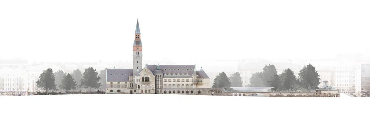 Suomijos nacionalinio muziejaus išplėtimas, arch. JKMM, 1-oji vieta