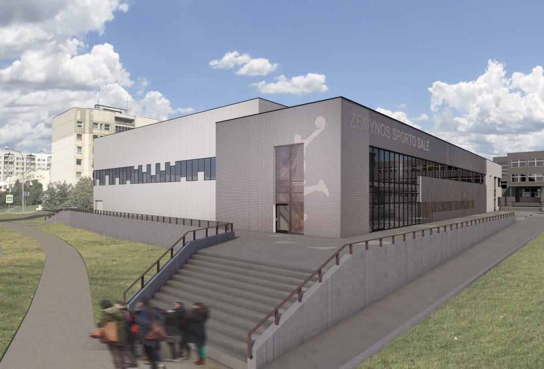 """Pašilaičių 3 krepšinio salių kompleksas Vilniuje (arch. R.Vaičiūnienė, UAB """"SRP projektas"""")"""