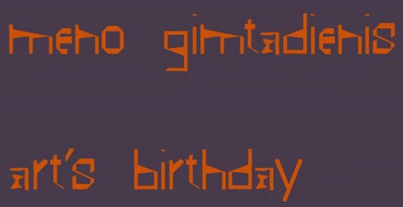 Meno gimtadienis
