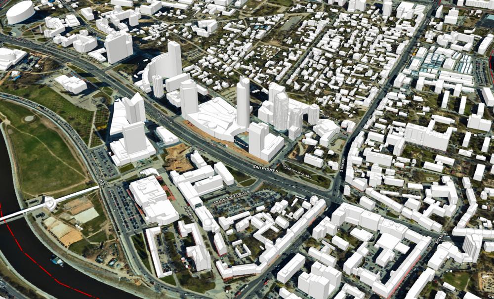 3D Vilniaus žemėlapis