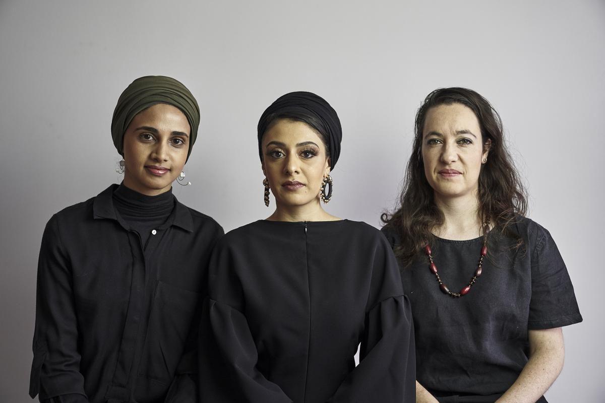 "Amina Kaskar, Sumayya Vally ir Sarah de Villiers (""Counterspace"") Foto: Justice Mukheli"