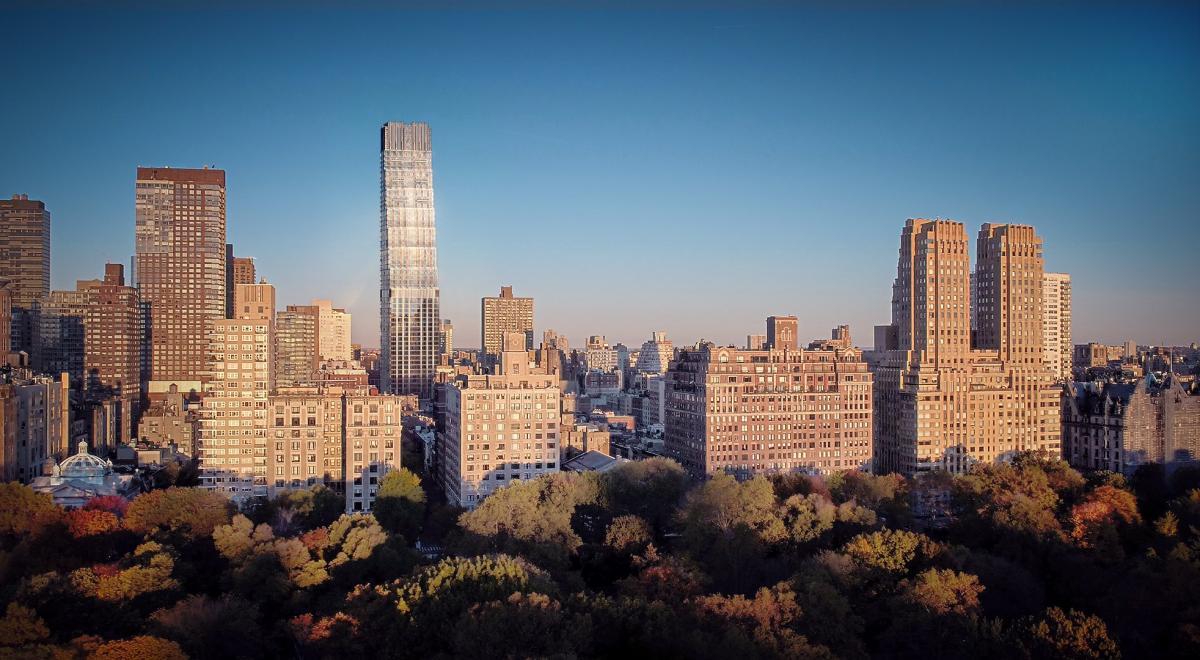 """Niujorko teismas nurodė nugriauti 20 iš 52 dangoraižio 200 Amsterdamo aveniu dangoraižio aukštų. Vaizdas iš Cenrinio parko. Pav.: """"Binyan studijos"""" (per MAS)"""