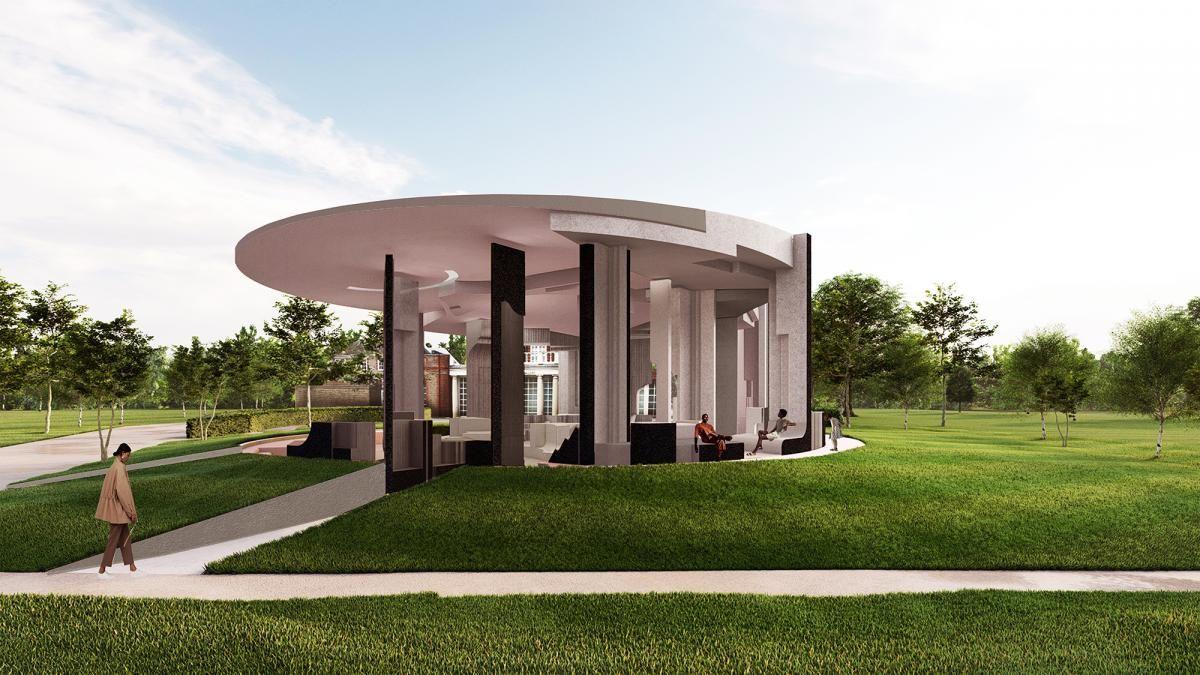"""Galerijos """"Serpentine"""" 2020 metų vasaros paviljonas (arch. """"Counterspace"""")"""