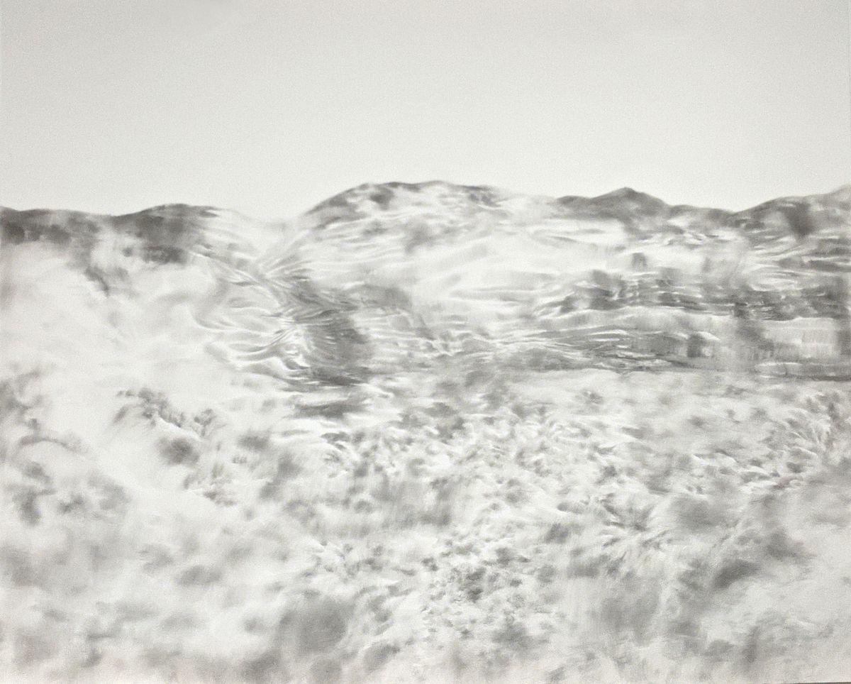 """""""Kita pusė"""", V.Žumbakytė, 2020, iš piešinių ciklo """"Tekstūros"""""""