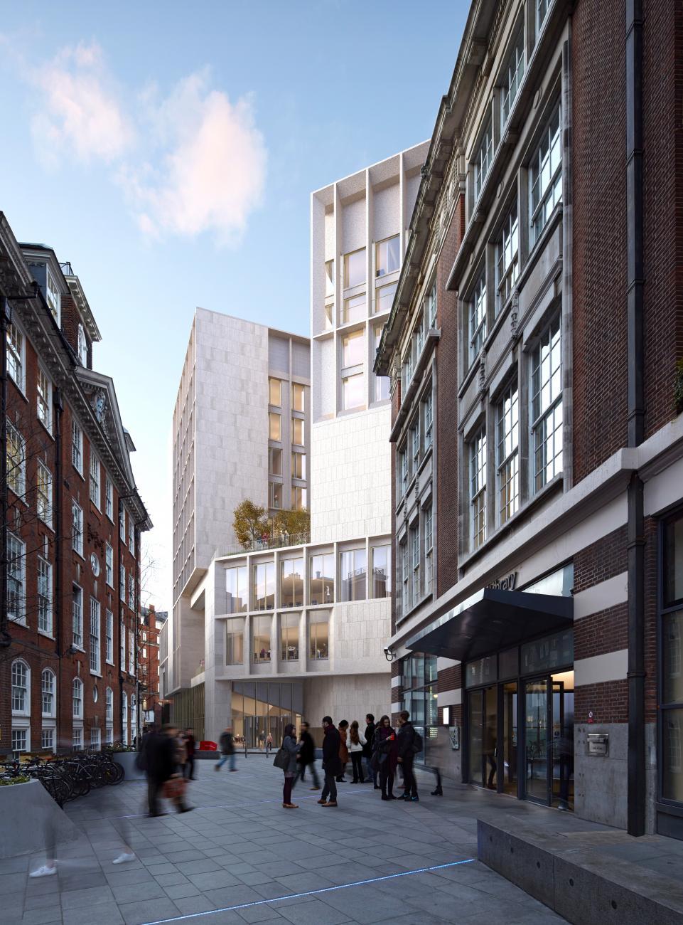 """Londono ekonomikos ir politikos mokslų mokykla (arch. """"Grafton Architects""""). Foto:""""Grafton Architects""""."""