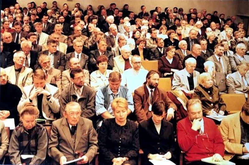 Architektų sąjunga per tris nepriklausomybės dešimtmečius išgyveno ir euforiją, ir depresiją. Foto: Klaudijus Driskius, 1999.