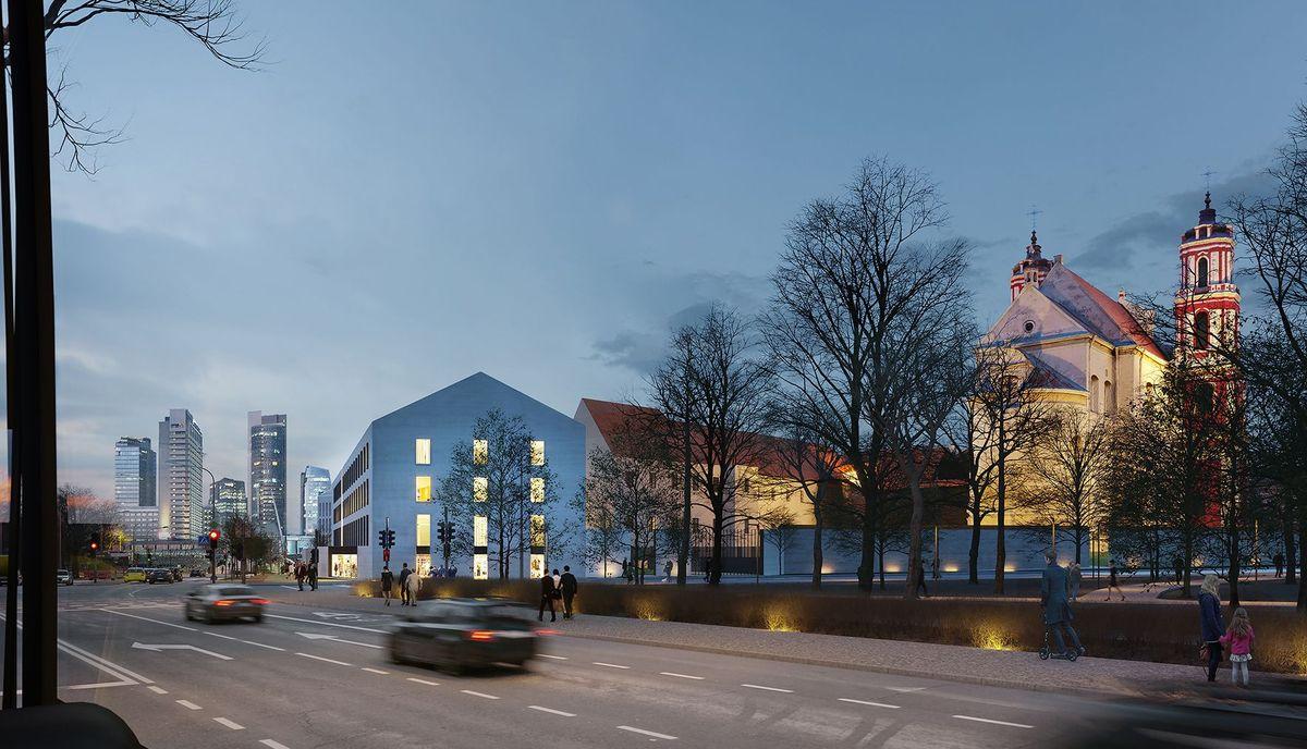 Vasario 16-osios komplekso vizualizacija nuo A.Goštauto gatvės. DO Architects