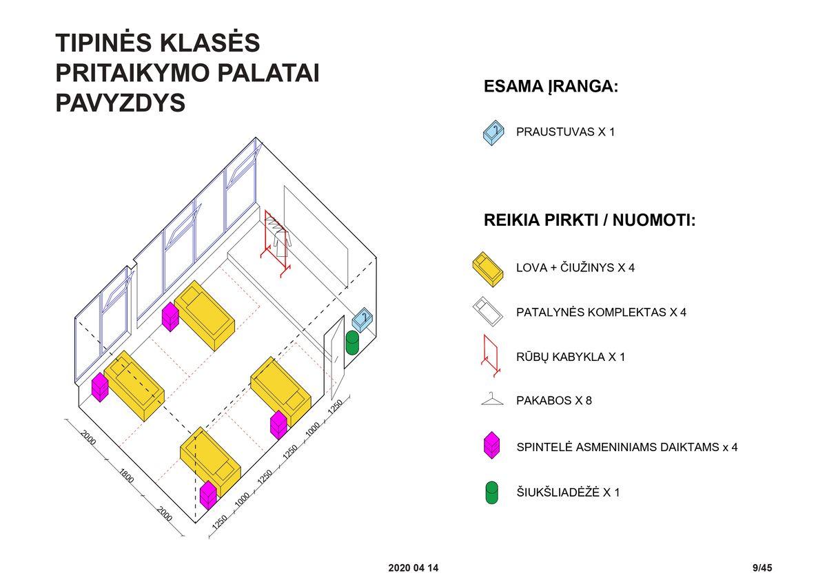 """Laikinų ligoninių įrengimo gidas (""""DO architects"""" ir """"2L architektai"""")"""