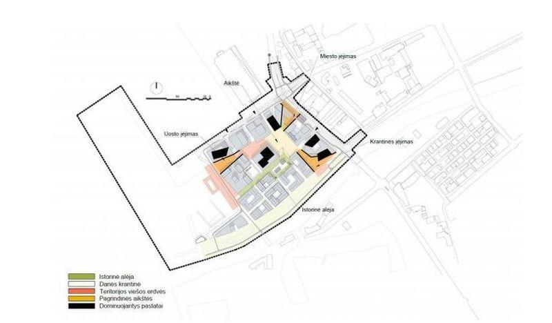 """Memelio miesto užstatymo viešųjų erdvių schema (""""Sweco Lietuva"""", """"Arches"""")"""