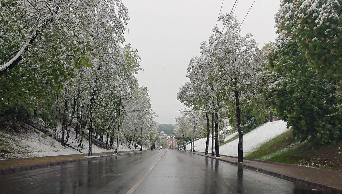 Sniegas gegužę