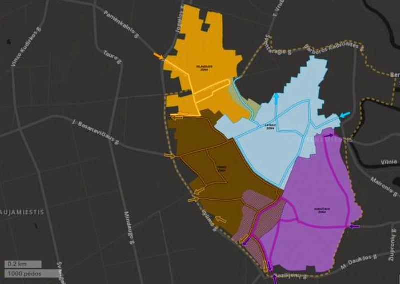 Vilniaus senamiestis bus padalintas į 4 zonas