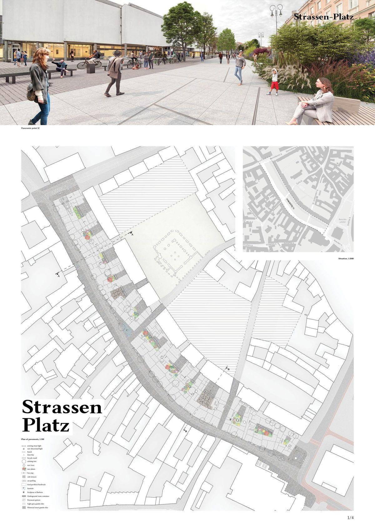 """Konkursinis darbas devizu """"Strassen-Platz"""""""