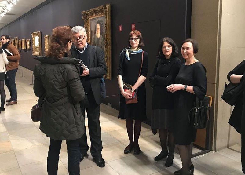 Monumentali Baltijos šalių simbolistų paroda Paryžiaus Orsė muziejuje tapo Osvaldo Daugelio ir kolegų kuratorių iš Latvijos bei Estijos triumfu. 2018 gruodis. Foto: O.Daugelio asmeninis archyvas.