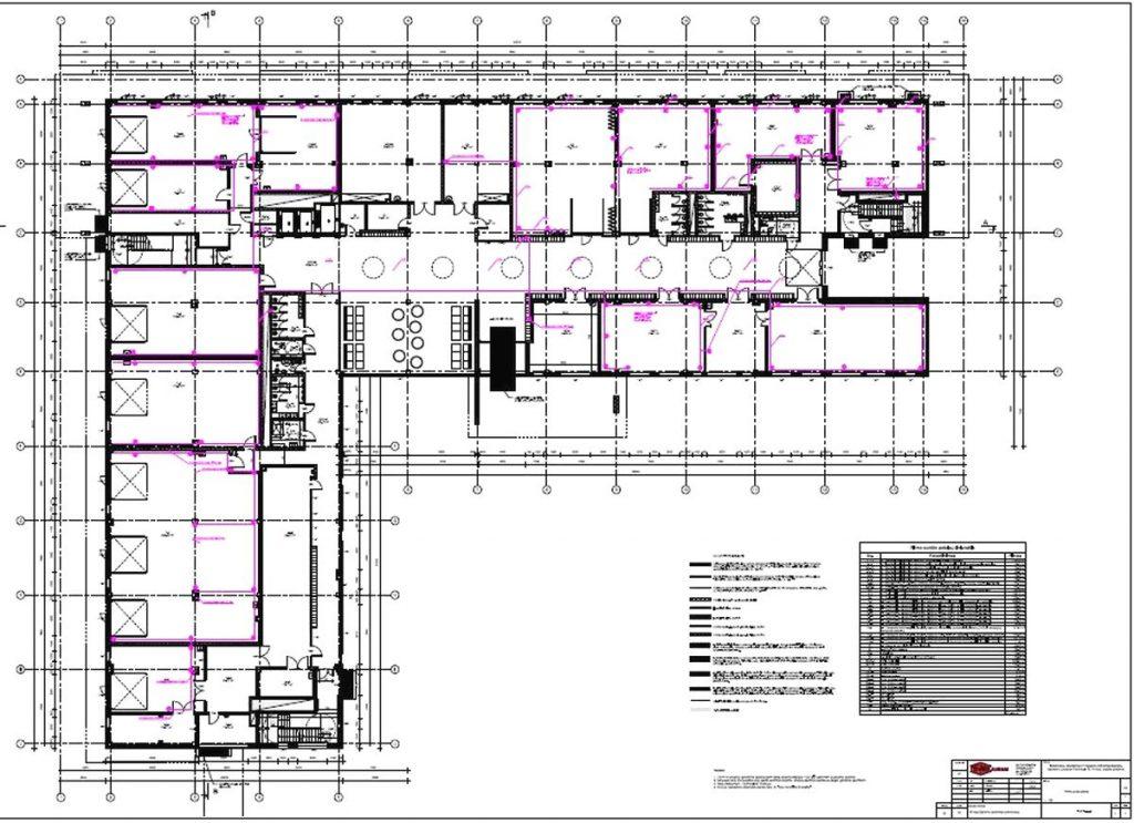 """Pirmo aukšto planas (arch. UAB """"TEAM architektai""""; PDV – V.Grigaitis, J.Šeibokas)"""