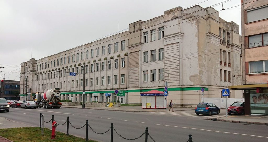 """Sovietmečiu Žaliaklnyje pastatytas gamyklos """"Banga"""" kompleksas laikomas viena didžiausių urbanistinių klaidų Kaune. Foto: ©PILOTAS.LT"""