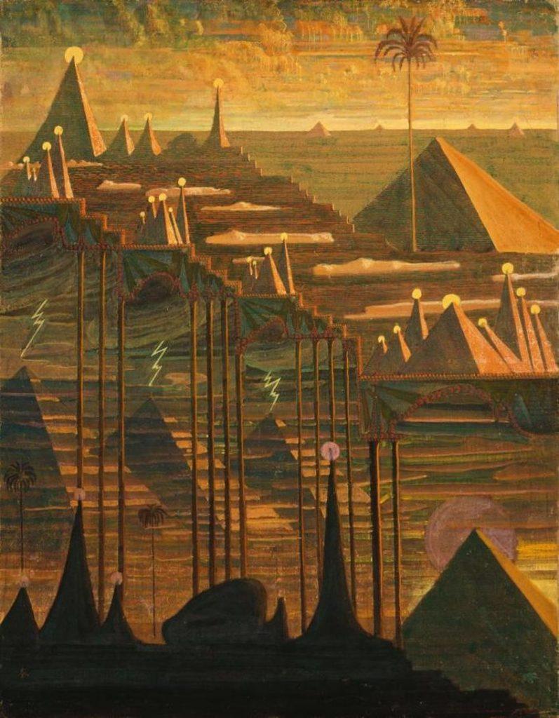 """""""Piramidžių sonata"""", M.K.Čiurlionis, 1909 m."""