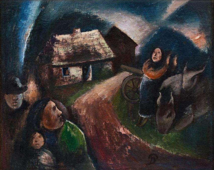 """""""Lietuvos kaimas karo metu"""", P.Domšaitis, 1918 m."""