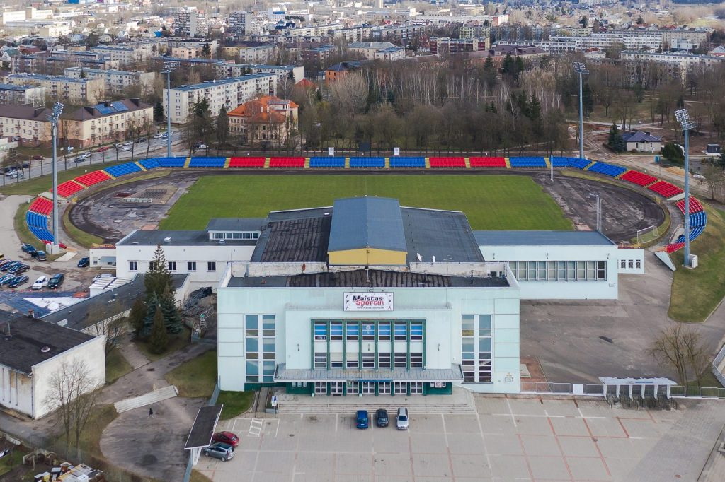 "Panevėžio sporto centro ""Aukštaitijos"" sporto kompleksas (Arch. Jonas Putna, 1965 m.). Foto: N.Tukaj"