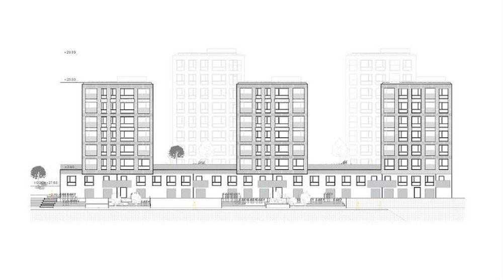 """Žemosios Fredos kvartalas (arch. """"Miesto planas"""", rchitekto Rolando Paleko studija)"""