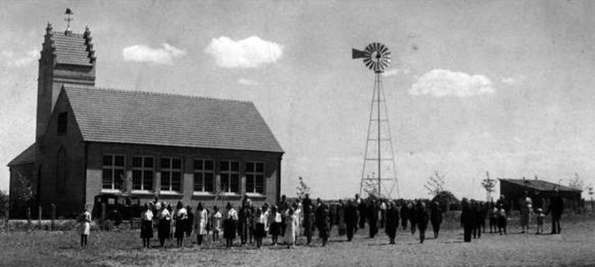 Kurnėnų mokykla 1936 metais. PILOTAS.LT archyvas