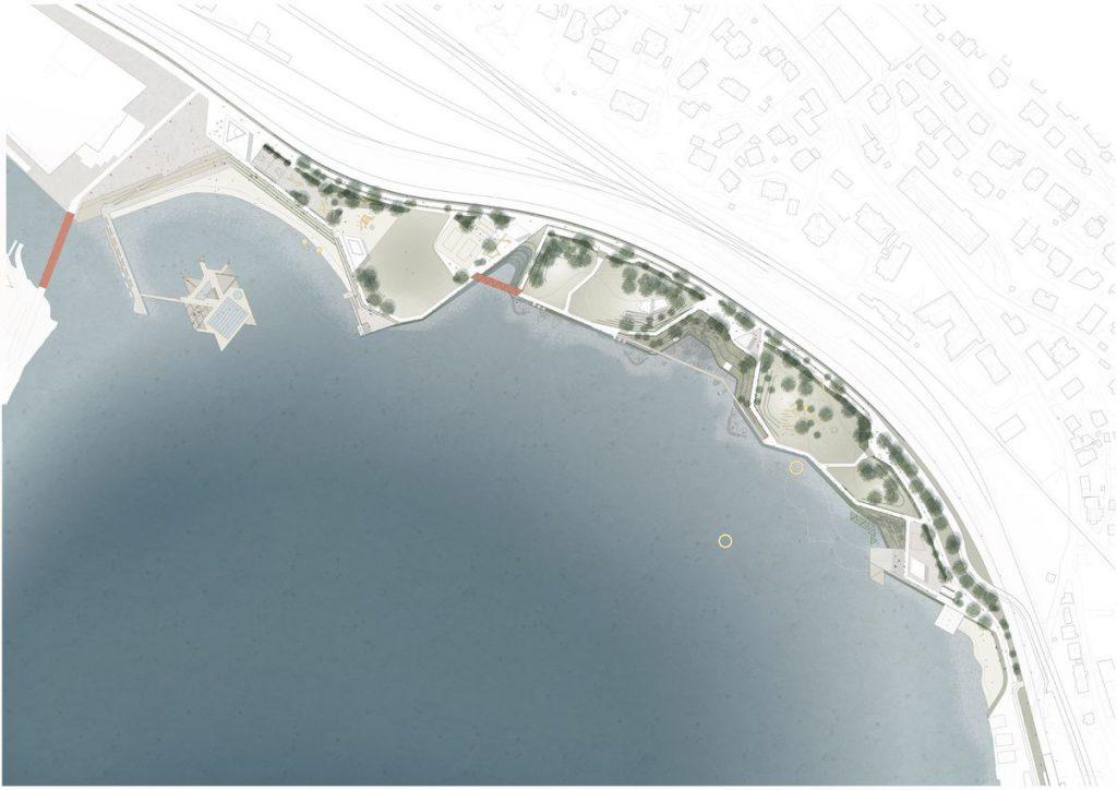 """Bergeno pakrantės parkas (arch. """"White Arkitekter"""")."""
